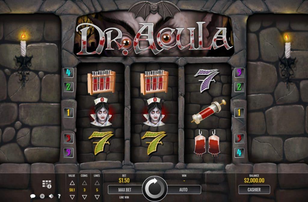 Dr. Acula is een gokkast ontwikkeld door softwareprovider Rival Gaming