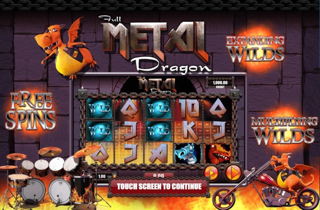 Er zijn diverse bonussen te verdienen bij Full Metal Dragon