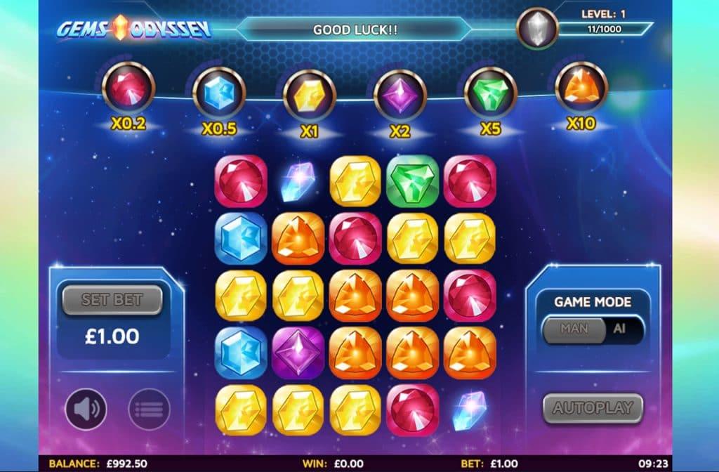De Gems Odyssey gokkast is ontwikkeld door Skillzzgaming