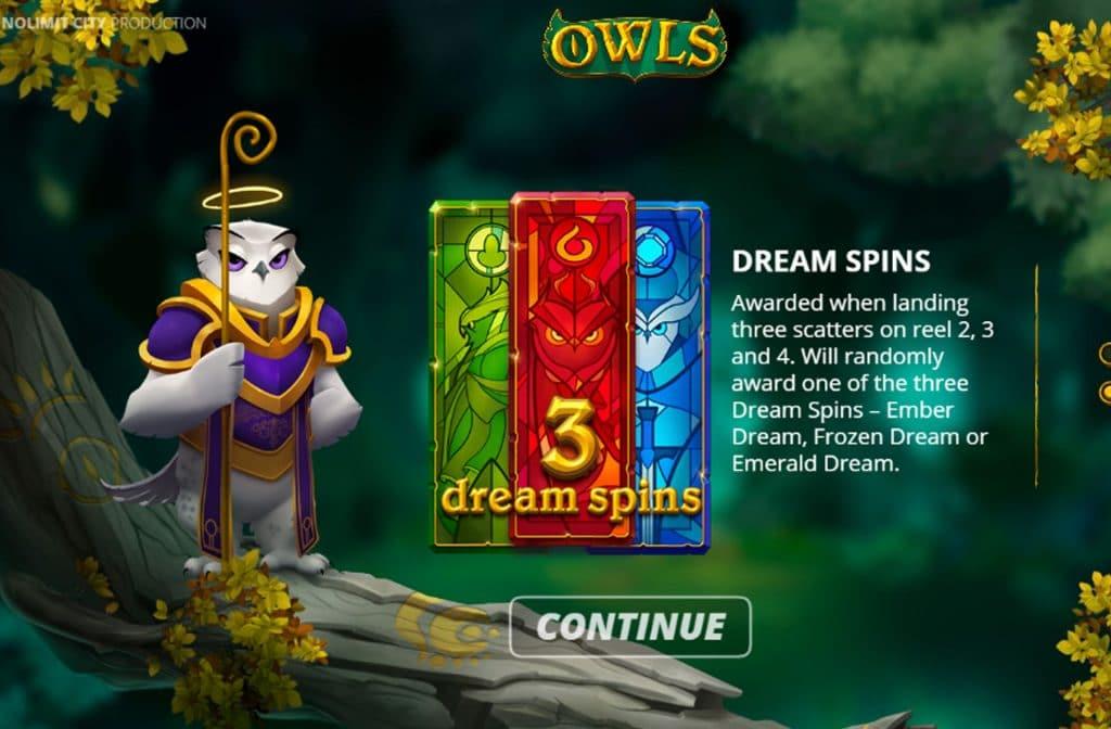 De Dream Spins Bonus zorgt voor een mooie pay-out