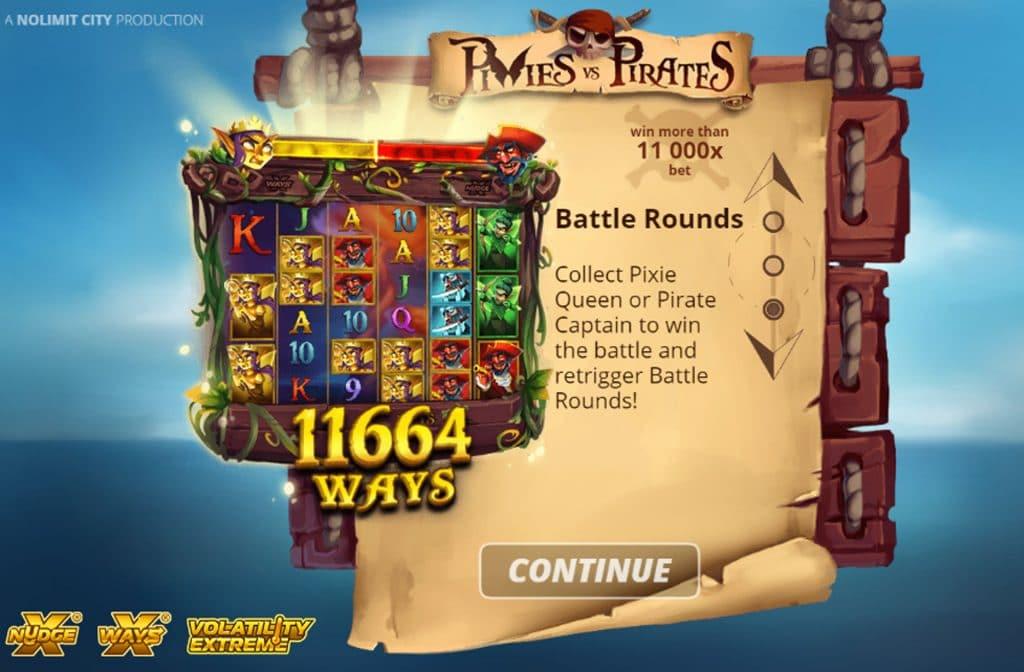 Met de Battle Rounds Free Spins heb je 11.664 manieren om te winnen