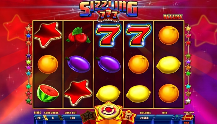 Sizzling 777 Deluxe Gameplay