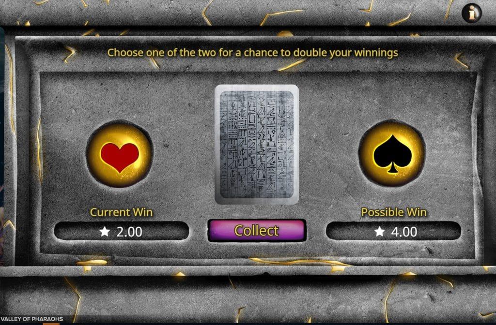 Valley of Pharaohs heeft diverse bonusfuncties in het spel zitten
