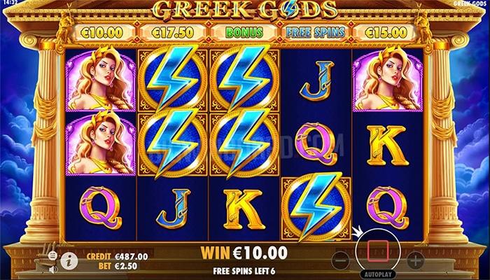 Greek Gods Pragmatic Play Gameplay