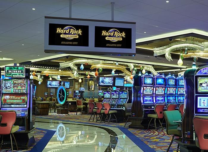 Het casino van het Hard Rock Hotel in Atlantic City