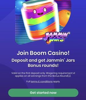 Registratie bij Boom Casino