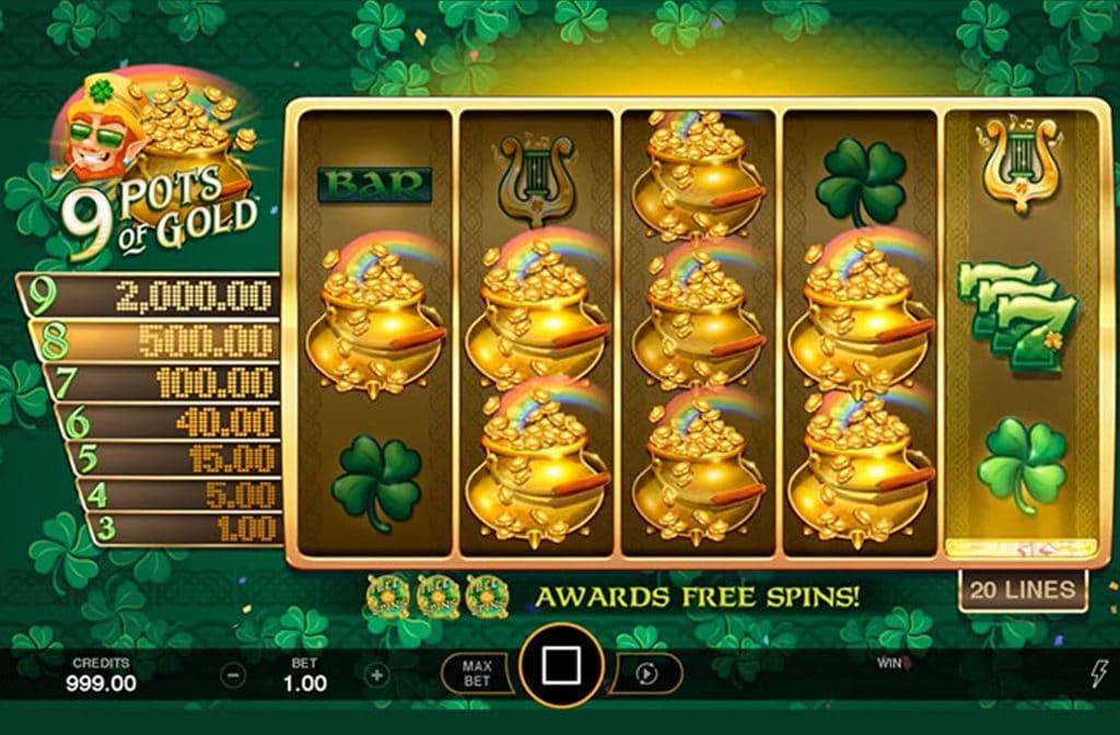 9 Pots of Gold is ontwikkeld door spelprovider Game Burger