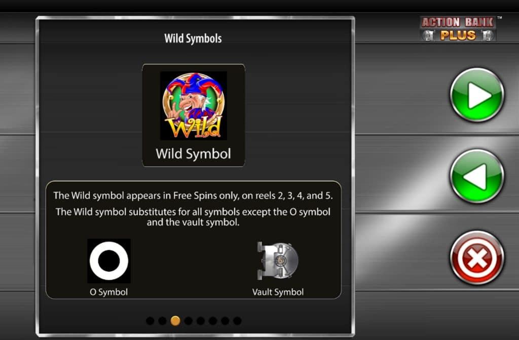 Het Wild symbool bij Action Bank Plus herken je aan de joker