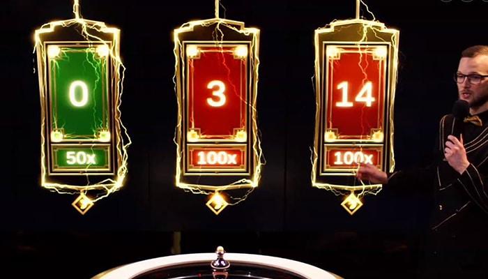 De Lightning Numbers met hun multiplier
