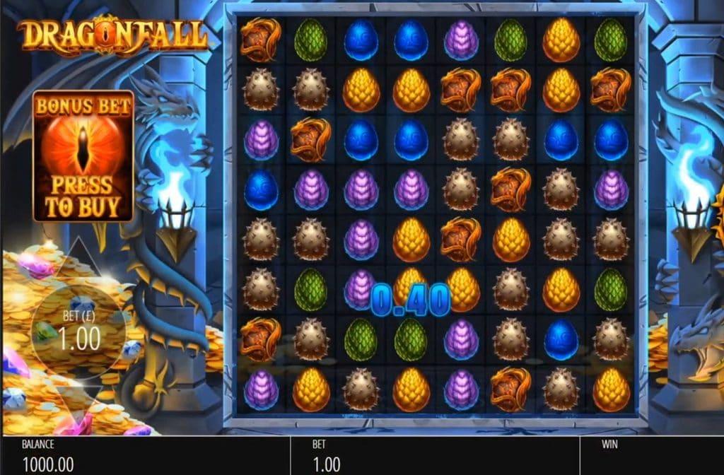 Spelprovider Blueprint Gaming heeft een mooie gameplay ontworpen voor Dragon Fall