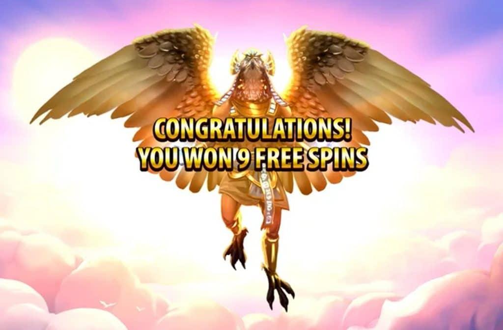De Free Spins Bonus is een van de bonussen die je bij Golden Glyph gokkast tegen kunt komen