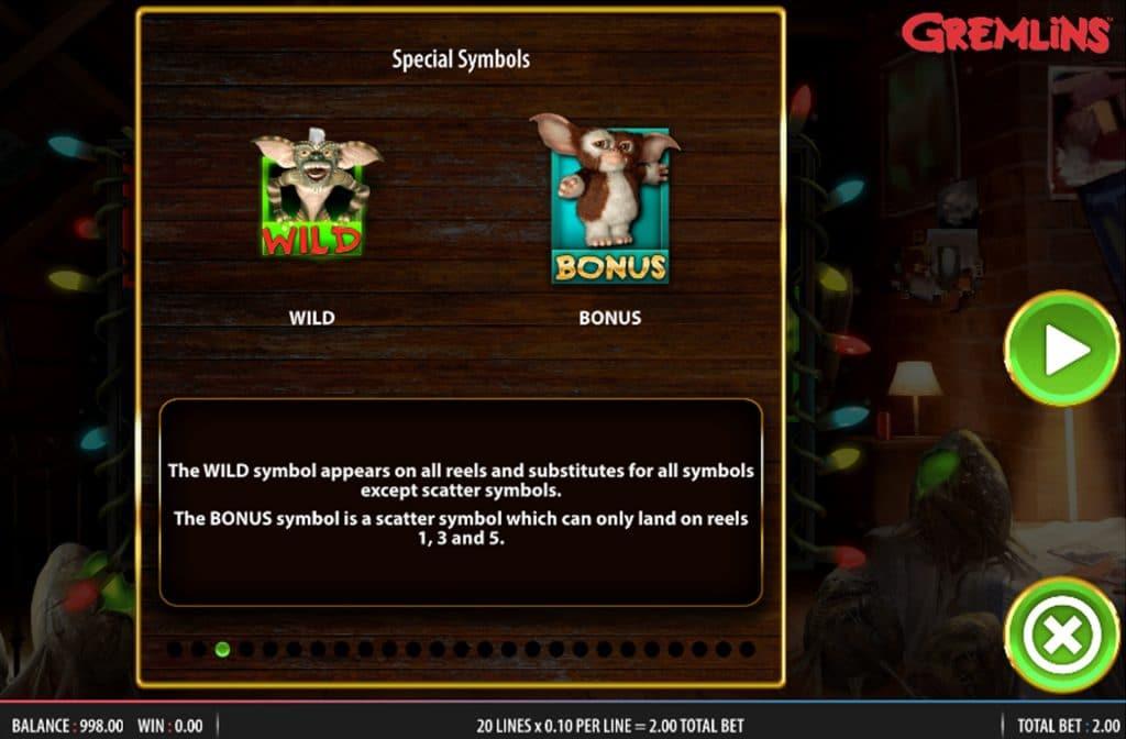 De Wild en Bonus symbolen zorgen voor extra winkansen