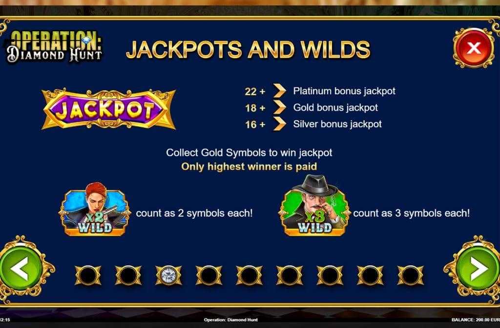 Ga op zoek naar de gouden symbolen en win de jackpot