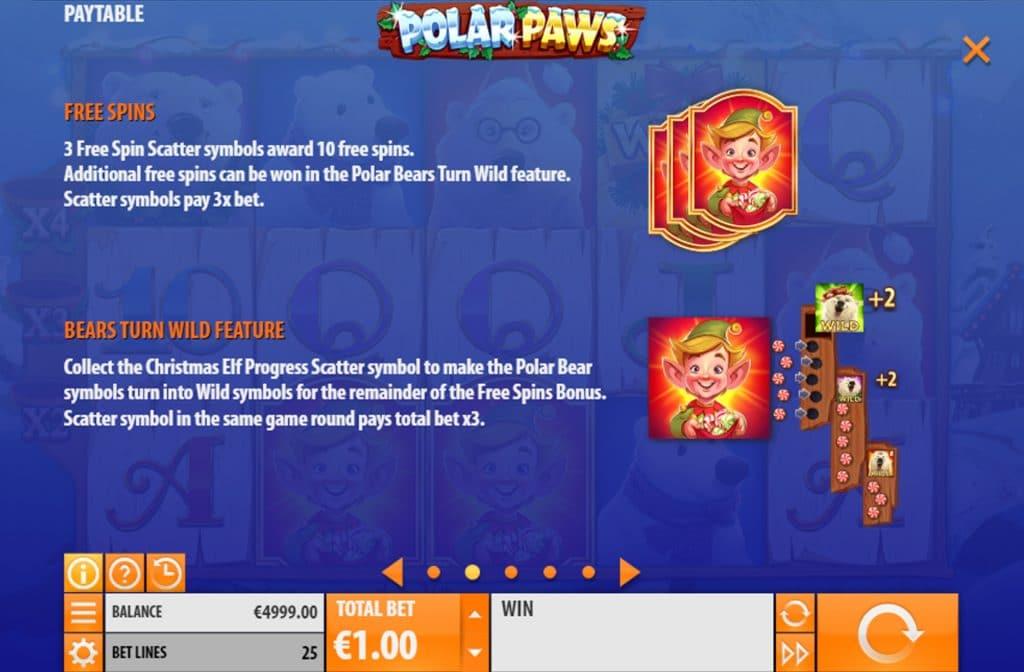 Er zijn diverse bonussen te winnen bij Polar Paws
