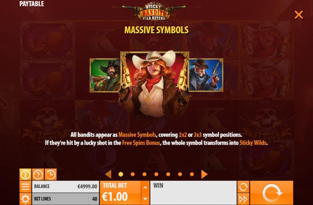 Door de diverse symbolen kun je verschillende bonussen vrijspelen