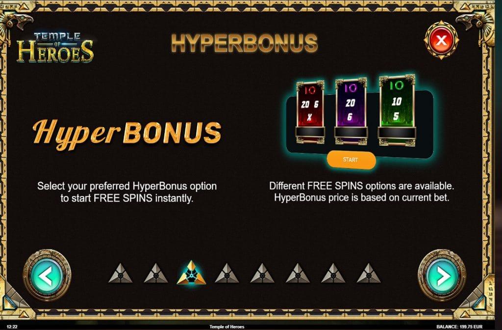 Door de diverse bonussen die je bij Temple of Heroes tegen kunt komen zijn er vele prijzen te winnen