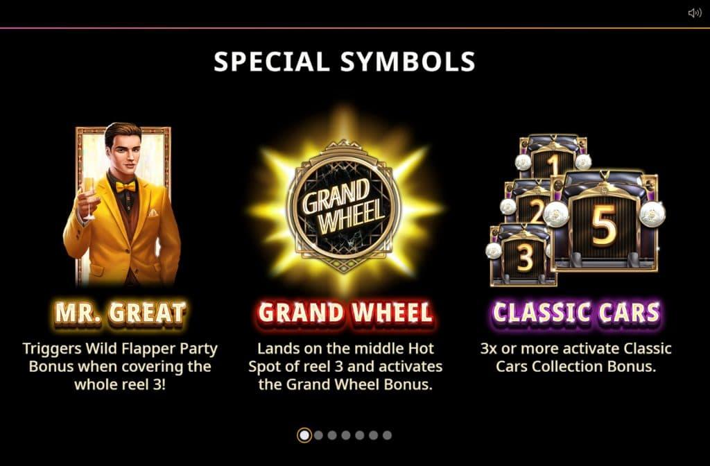 De speciale symbolen zorgen dat je mooie prijzen kunt winnen
