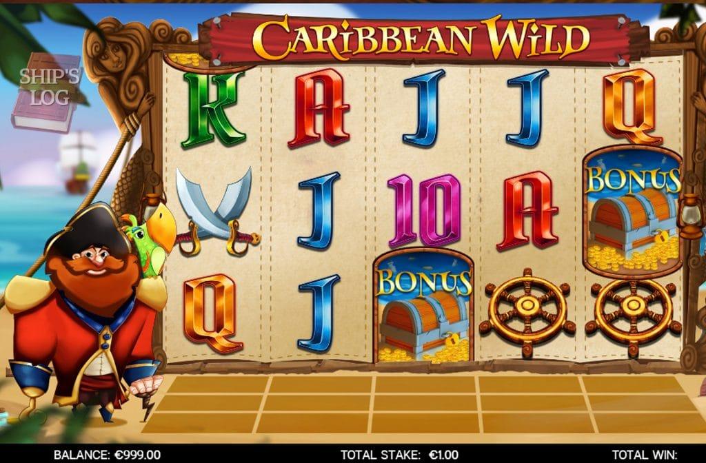 Het bonus symbool bij Caribbean Wild herken je aan de schatkist