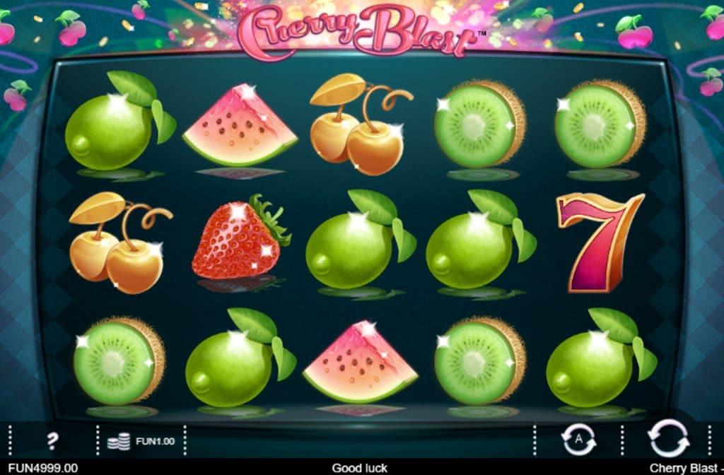 Fruitautomaat Cherry Blast is ontwikkelt door spelprovider Iron Dog Studio