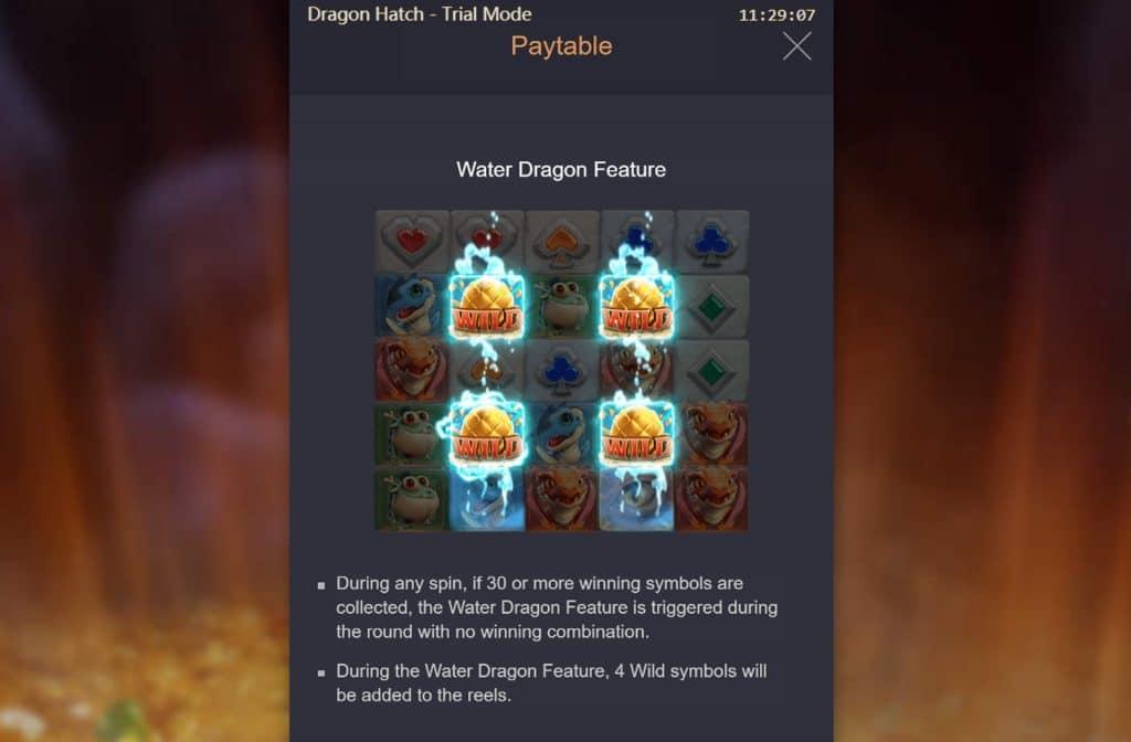 Het Wild symbool bij Dragon Hatch herken je aan het gouden drakenei