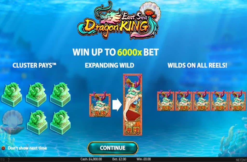 Bij East Sea Dragon King zijn er diverse bonussen in het spel te vinden