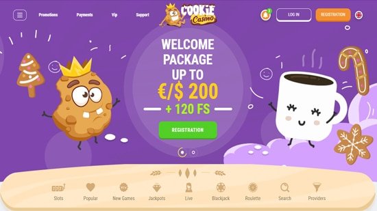 Ga naar Cookie Casino