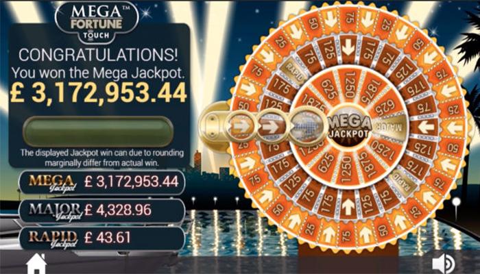 Het rad van fortuin bij Mega Fortune