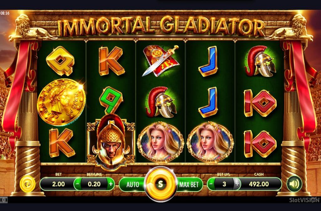 De Immortal Gladiator is ontwikkeld door spelprovider Slotvision