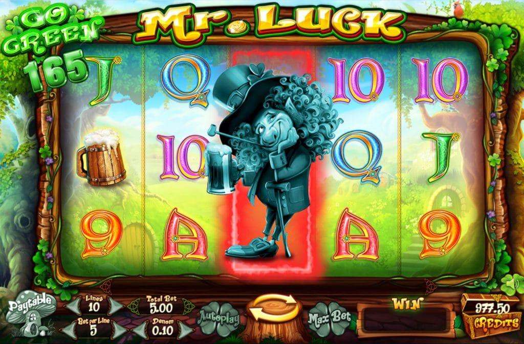 De Leprechaun dient bij Mr. Luck als Wild symbool
