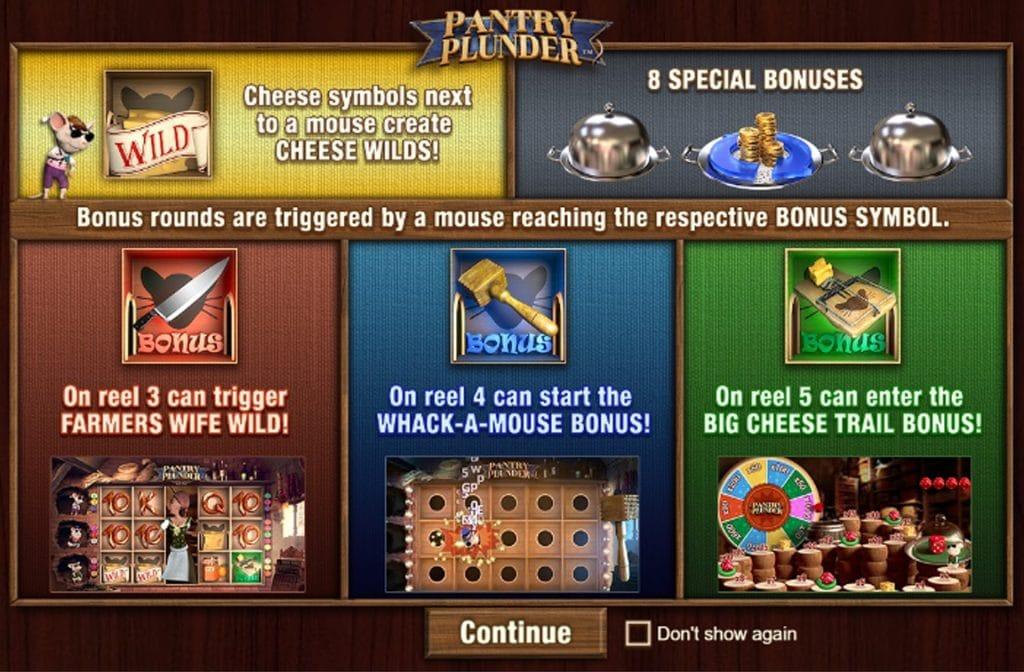Door de vele bonussen die je bij Pantry Plunder tegen kunt komen, verdien je mooie geldprijzen