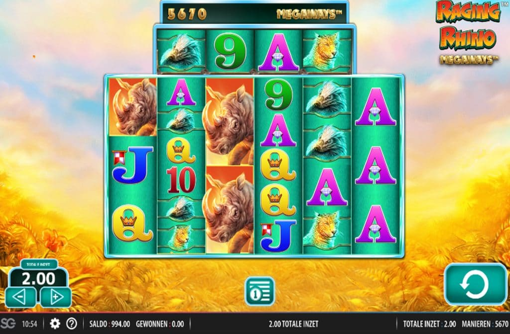 De Raging Rhino Megaways is ontworpen door spelprovider Red7
