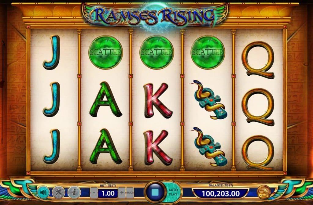 Het Scatter symbool bij Ramses Rising herken je aan de groene bol en kan voor free spins zorgen