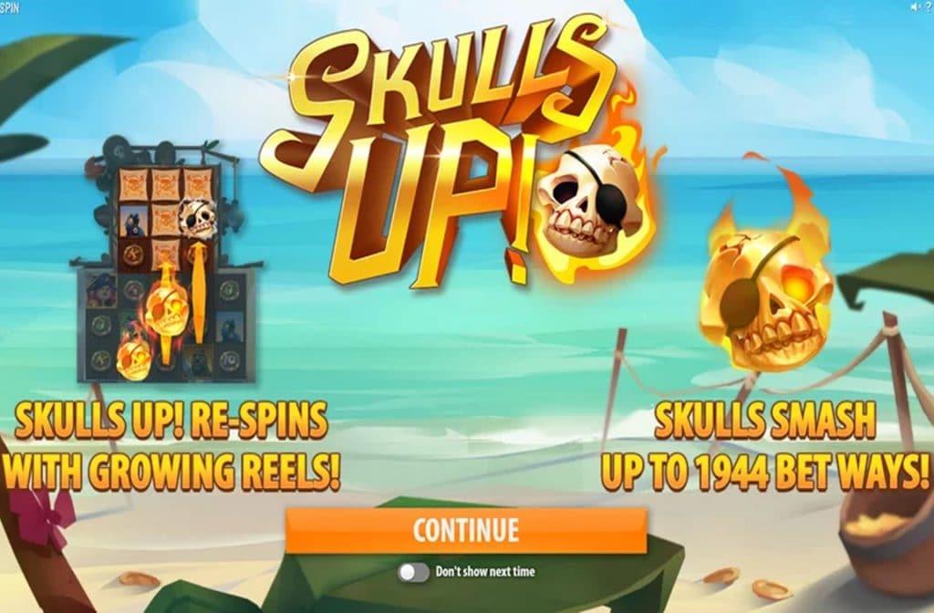 Door de diverse bonussen die Skulls Up heeft zijn er mooie geldprijzen te winnen