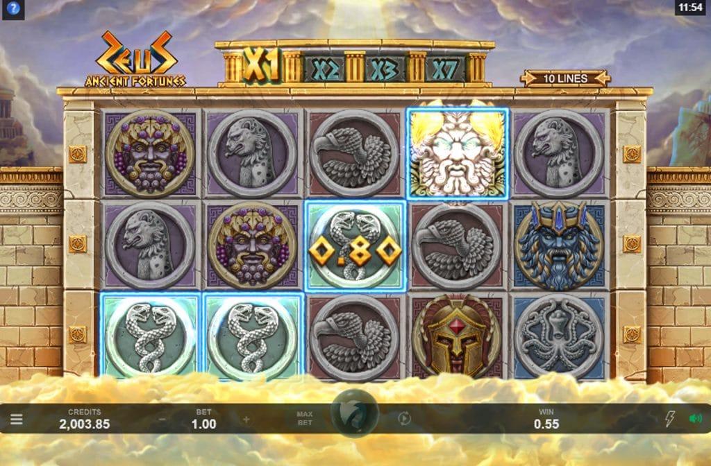 De Ancient Fortunes: Zeus gokkast is ontwikkeld door spelprovider Triple Edge Studios