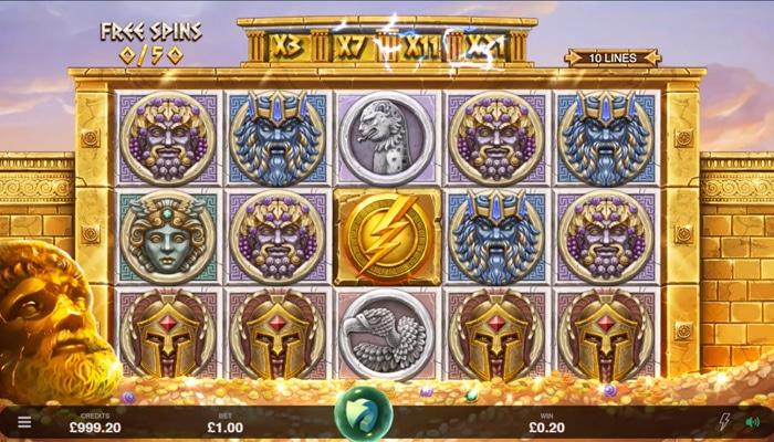 Ancient Fortunes Zeus Gameplay
