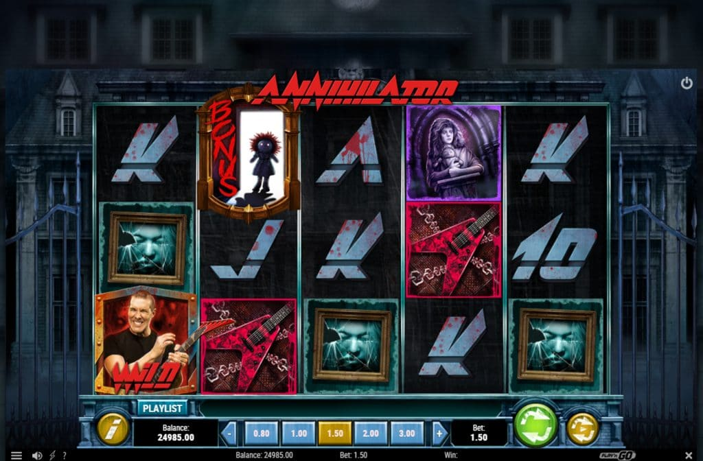Gokkast Annihilator is ontwikkeld door spelprovider Play'n GO