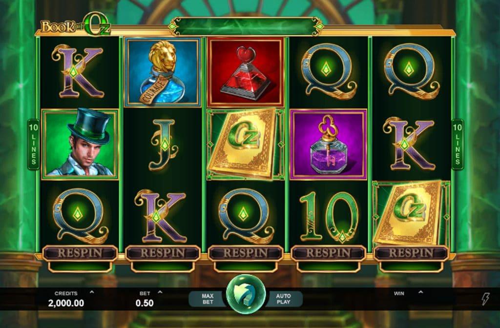 Het gouden boek is het Scatter symbool, maar dient in dit spel ook als Wild symbool