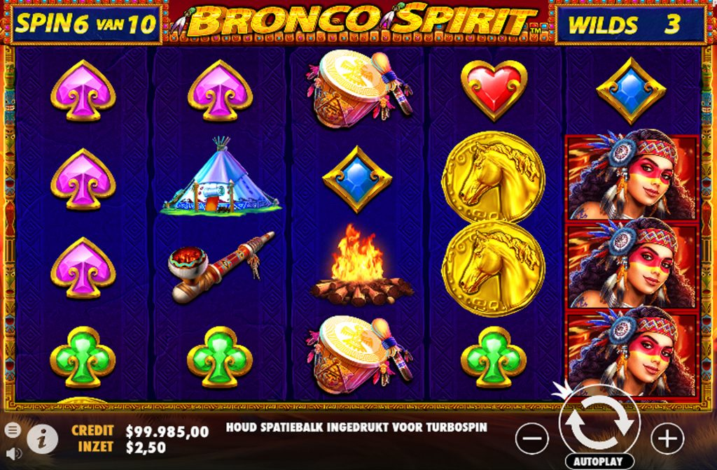 De Bronco Spirit gokkast is ontwikkeld door spelprovider Pragmatic Play