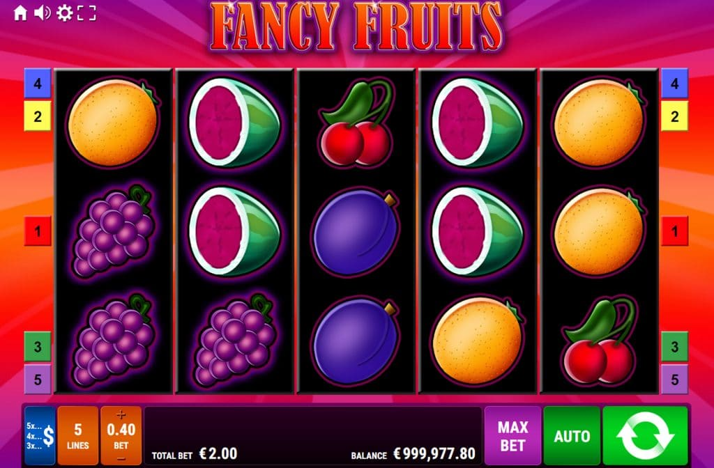 De Fancy Fruits Fruitautomaat is ontwikkeld door spelprovider Gamomat