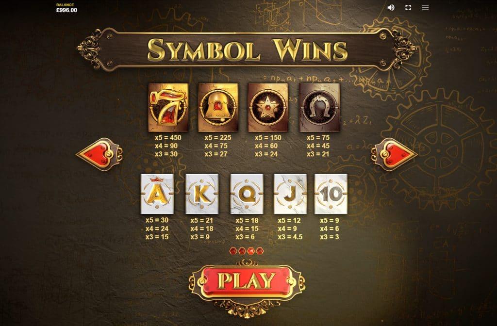 Wil je weten wat de winnende symbolen waard zijn, neem dan eens een kijkje in de uitbetalingstabel