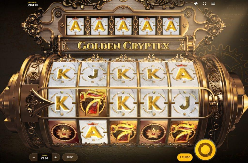 De Golden Cryptex van spelprovider Red Tiger heeft een mooie gameplay en is goed uitgewerkt