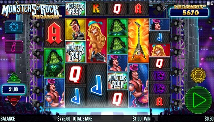 Monsters of Rock Megaways Gameplay
