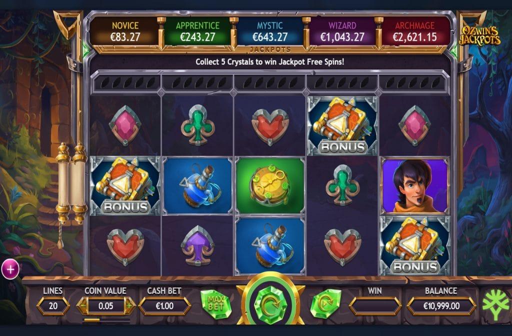 Ozwin's Jackpots is ontwikkeld door spelprovider Yggdrasil