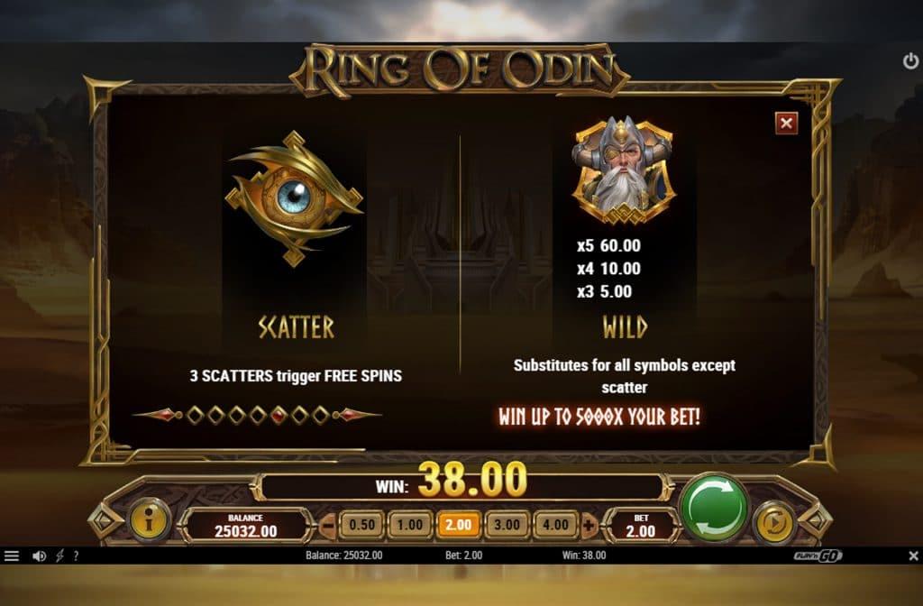 De Scatter en Wild symbolen bij Ring of Odin kunnen voor mooie extra geldprijzen zorgen