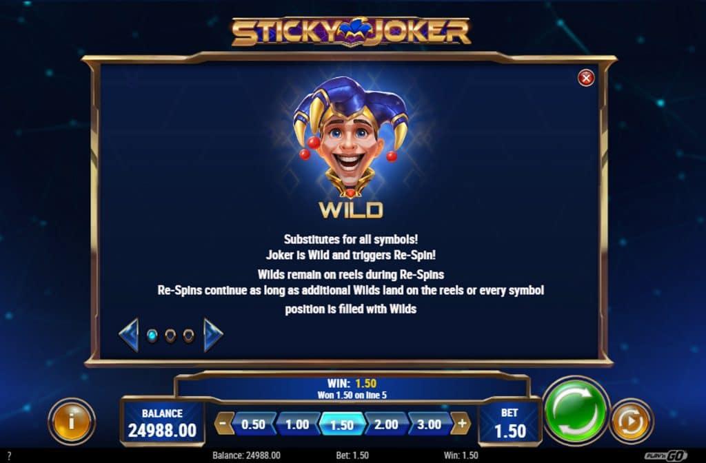 De Wild bij de Sticky Joker gokkast is, hoe kan het ook anders, de joker