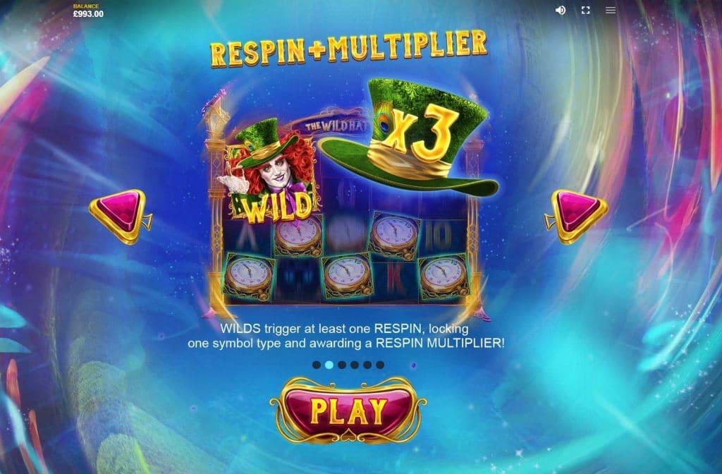 De joker is het Wild symbool bij The Wild Hatter gokkast