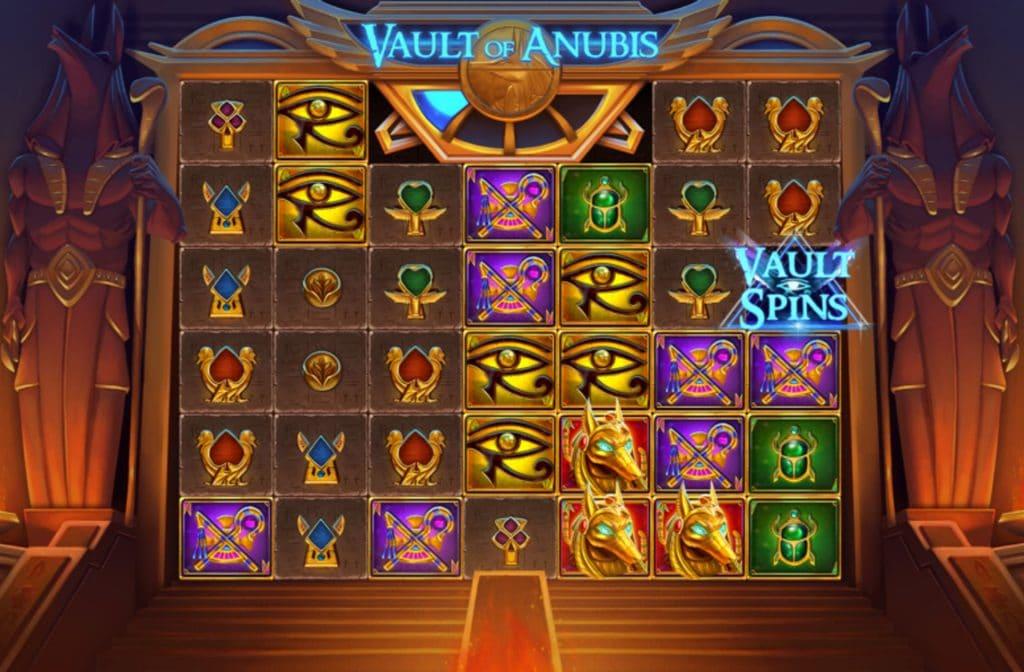 Draai je het Vault Spins symbool, dan ontvang je 10 free spins