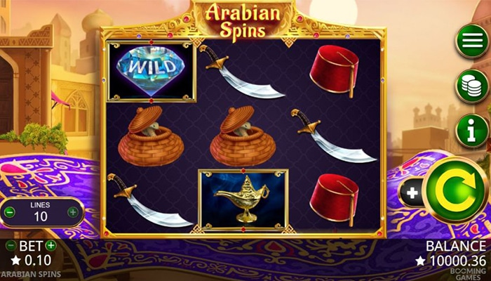 Arabian Spins Gameplay