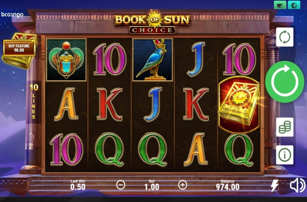 De Book of Sun Choice is ontwikkeld door spelprovider Booongo