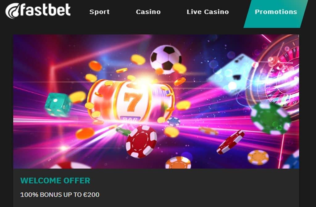 Fastbet Casino geeft je als nieuwe speler een mooie welkomstbonus